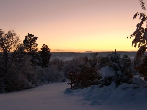 Snowy Colorado Sunset - October 2011