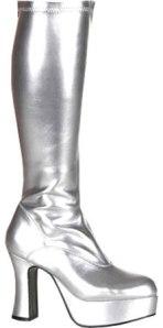 Silver platform boots