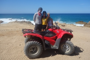 Fun on the desert on an ATV