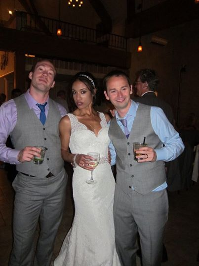 Bride and grooms dudes